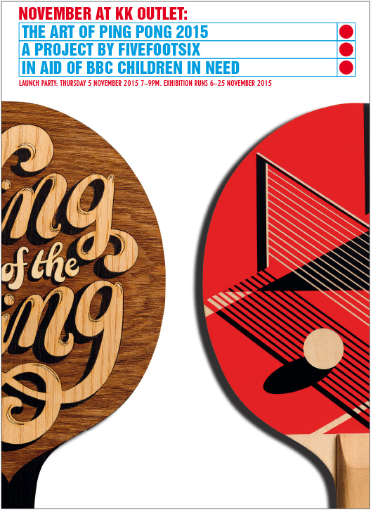 The Art of Ping Pong 2015 Invite